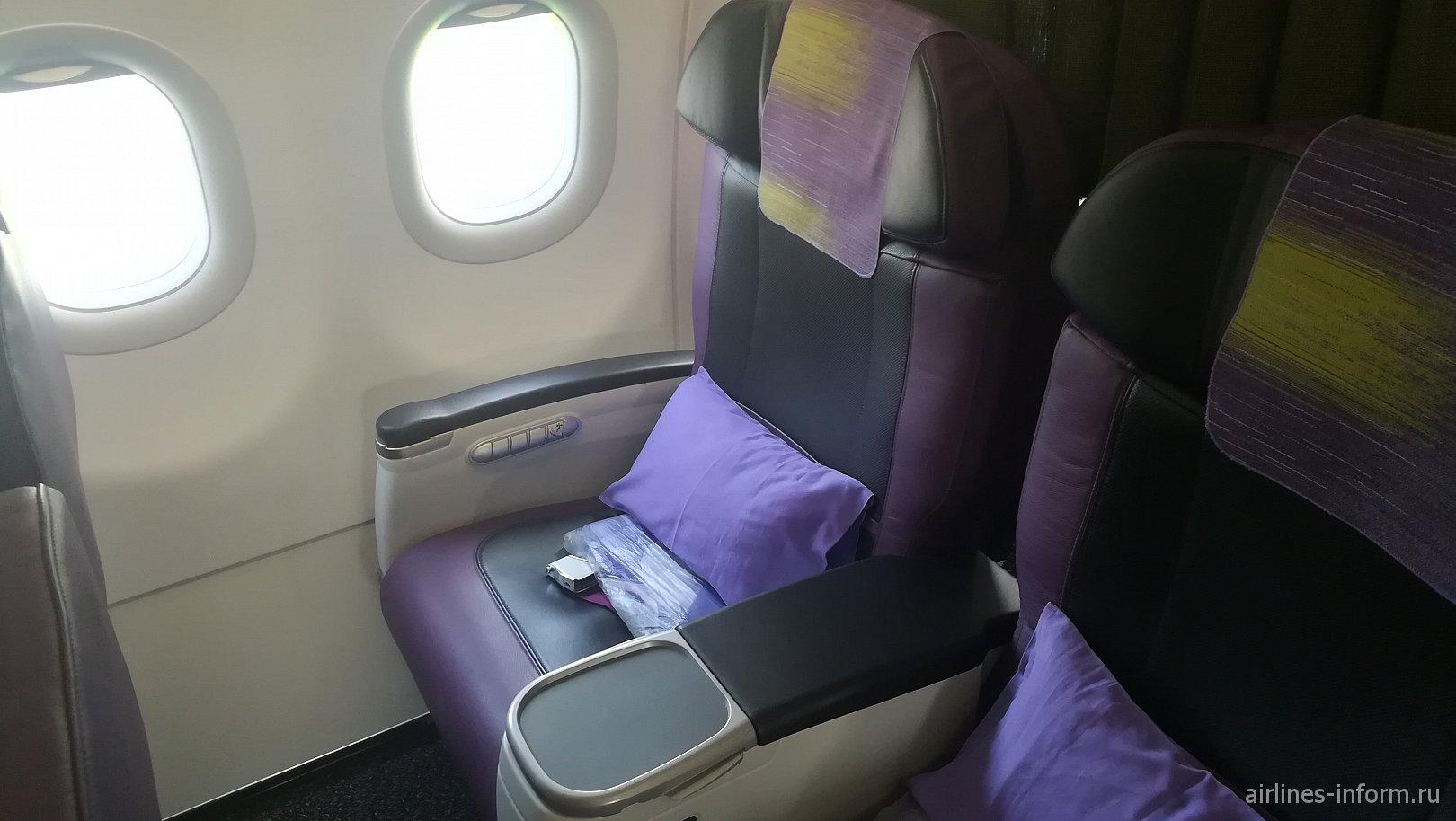 Пассажирские кресла бизнес-класса в Airbus A320neo авиакомпании S7 Airlines