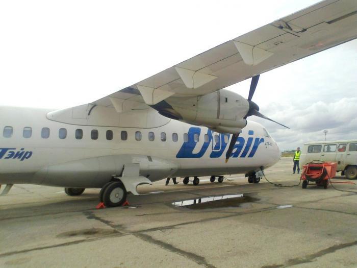ATR 42 авиакомпании UTair в Ульяновске