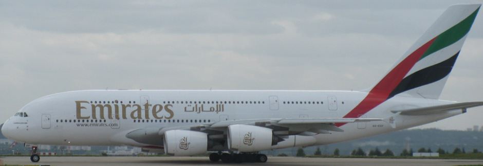 Airbus A380 of Emirates