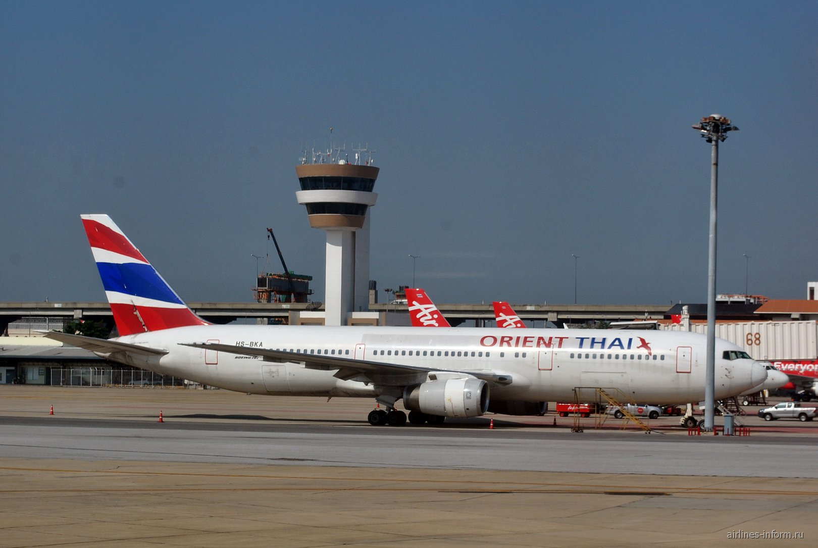 Boeing 767-300 HS-BKA авиакомпании Orient Thai в аэропорту Бангкок Дон Муанг