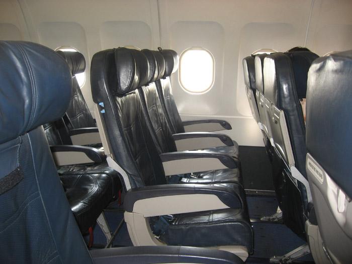 Кресла самолета Airbus A320 авиакомпании Авианова