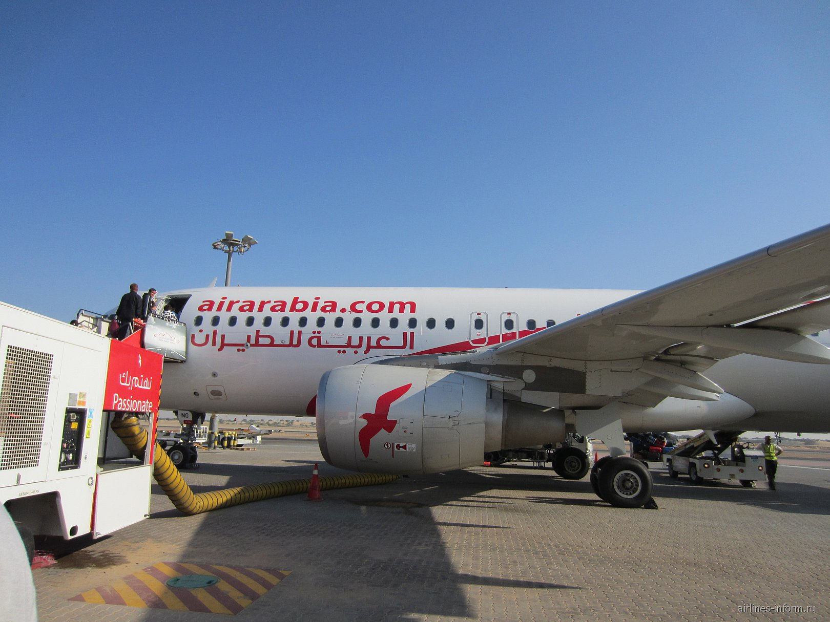 Airbus A320 авиакомпании Air Arabia в аэропорту Шарджа