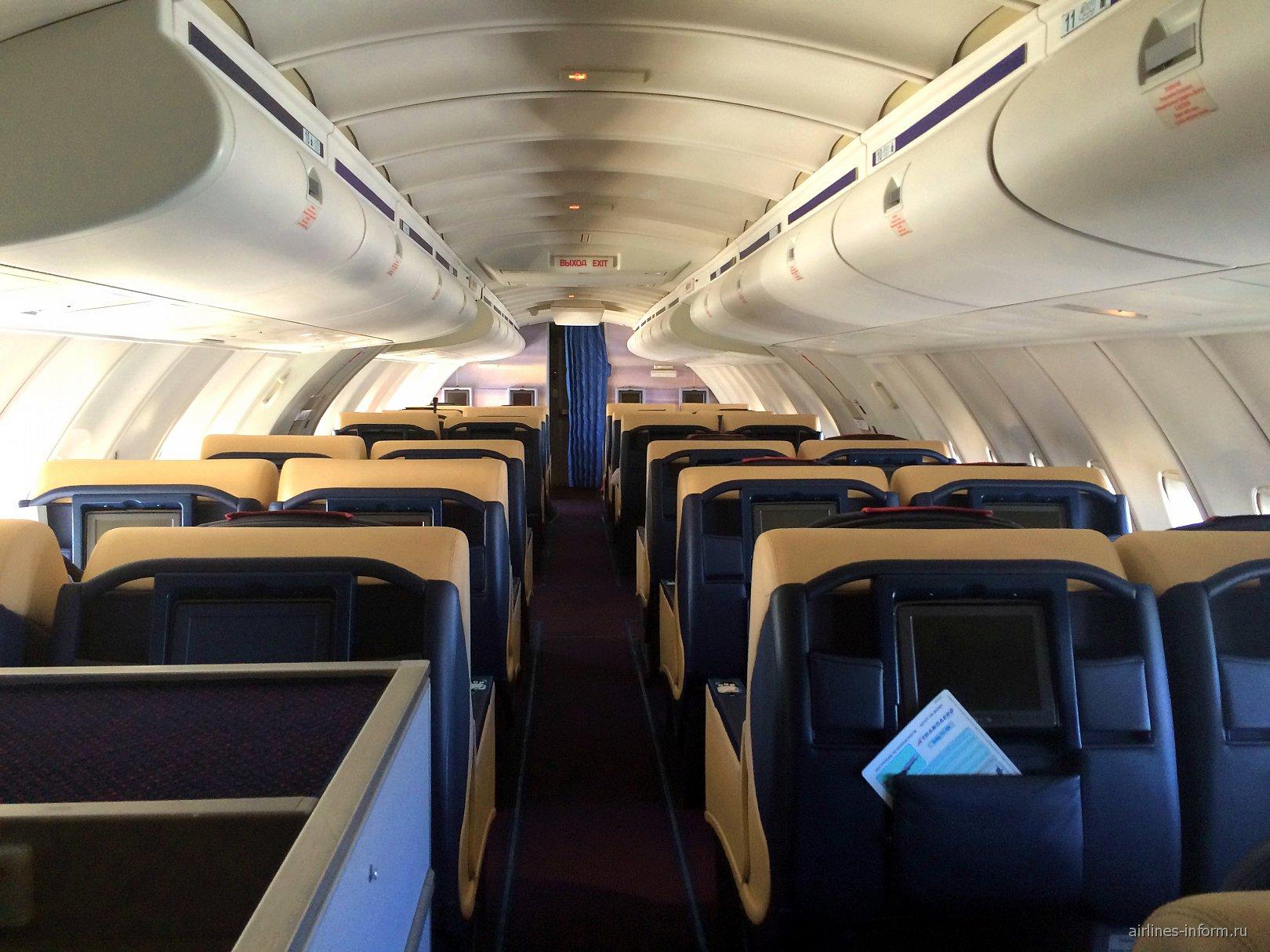 "Бизнес-класс в самолете Боинг-747-400 авиакомпании ""Трансаэро"""