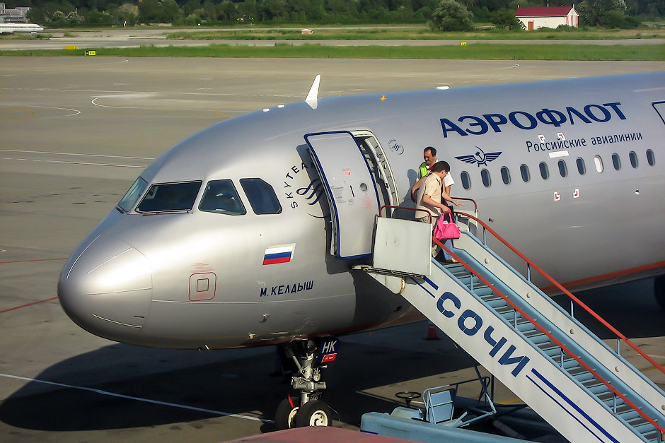 The Airbus A-321s of Aeroflot: Moscow to Sochi and back