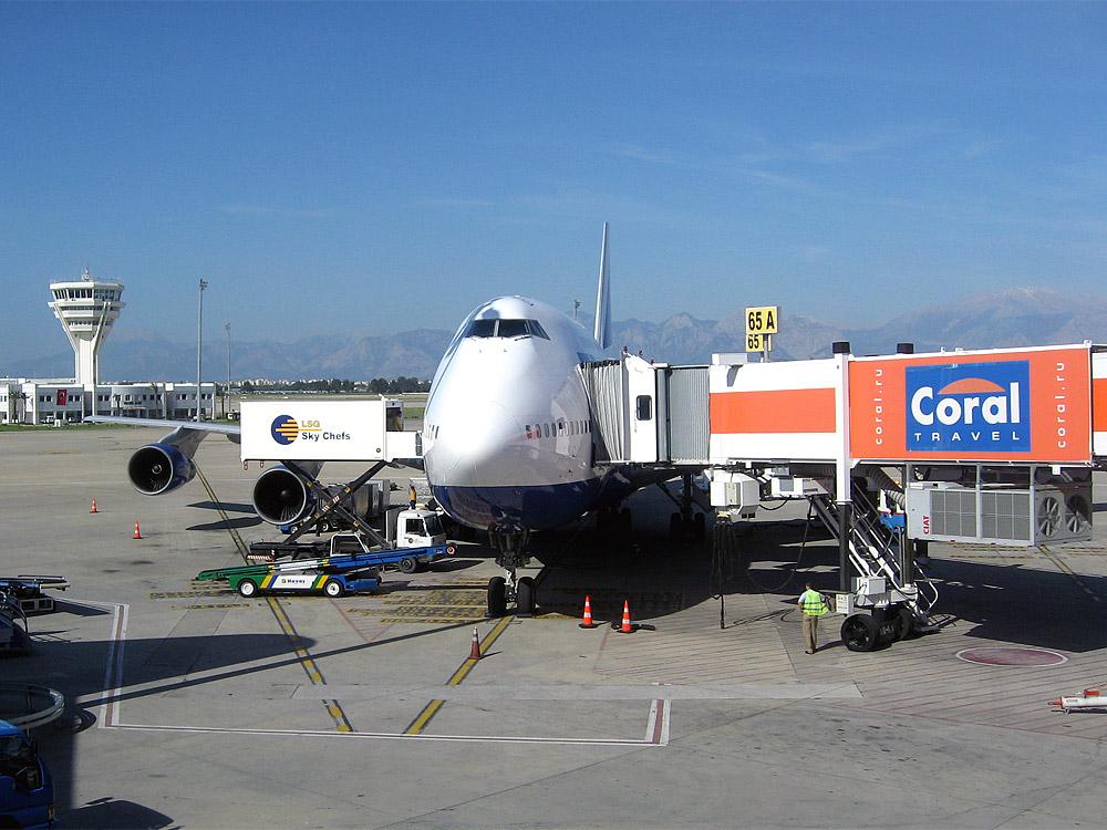 Transaero Boeing 747-300 in Antalya airport