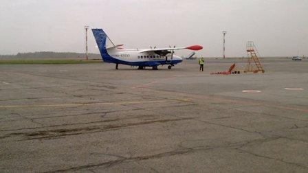 Самолет Л-410 авиакомпании Оренбуржье