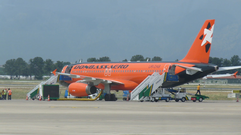 Самолет Airbus A321 авиакомпании Донбассаэро