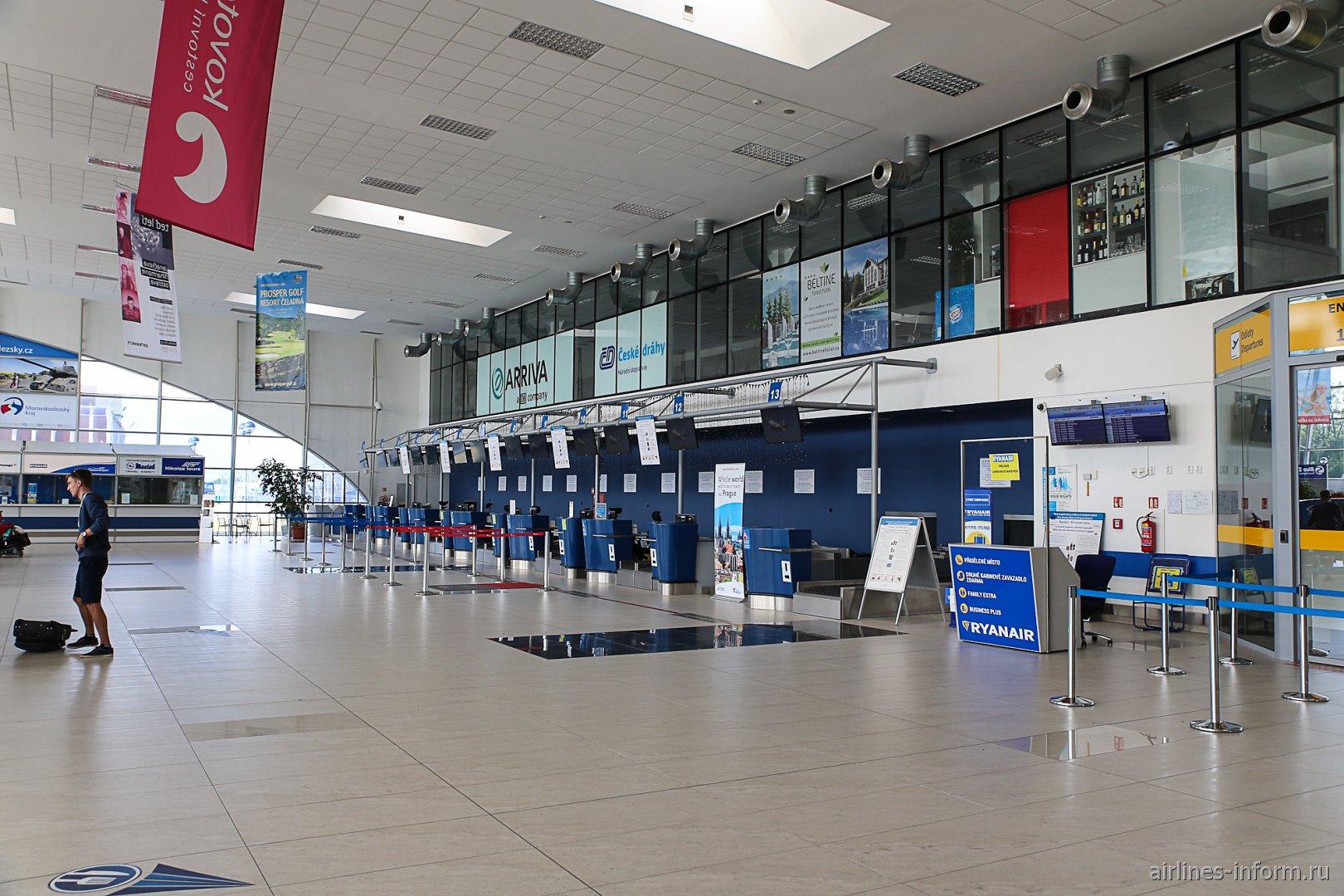 Стойки регистрации в аэропорту Острава Леош Яначек