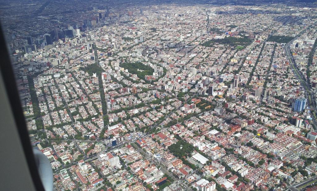 Вид на город Мехико