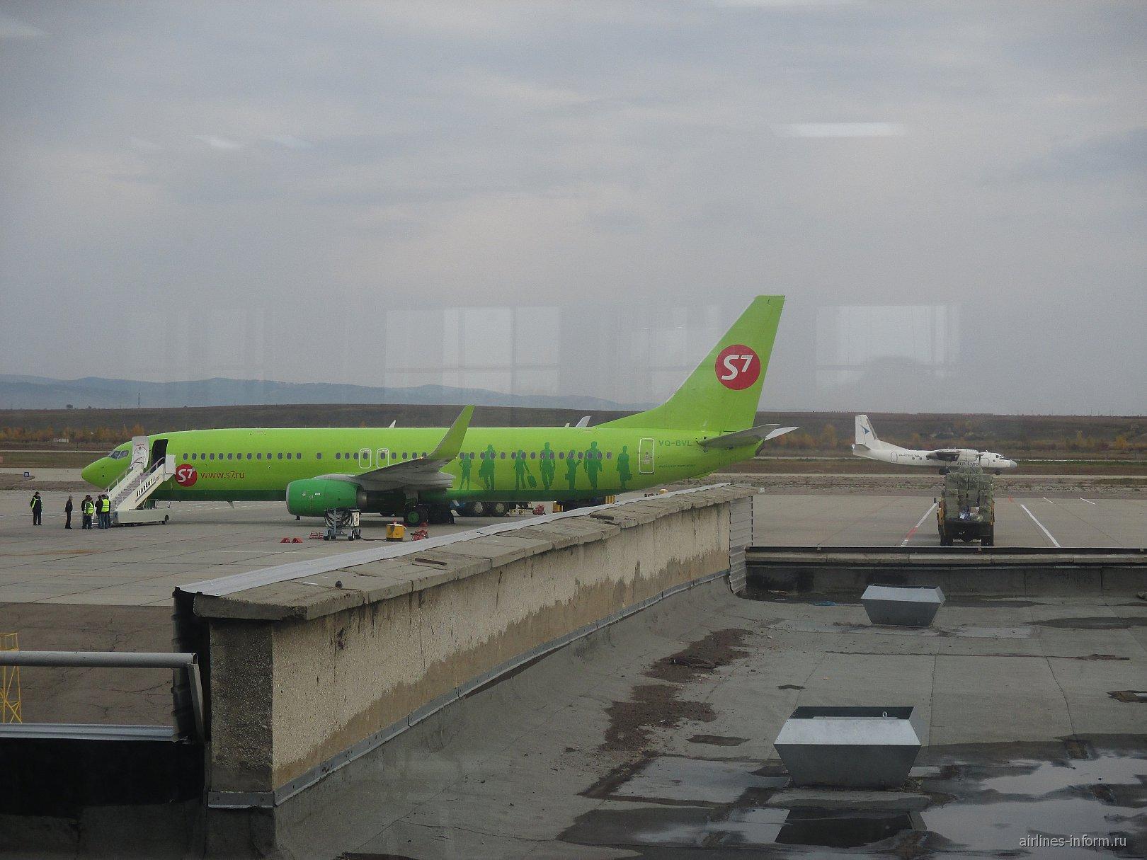 Боинг-737-800 S7 Airlines в аэропорту Чита Кадала