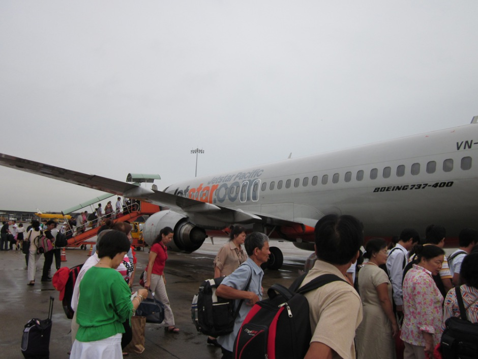 Boarding on the flight Hanoi Ho Chi Minh City