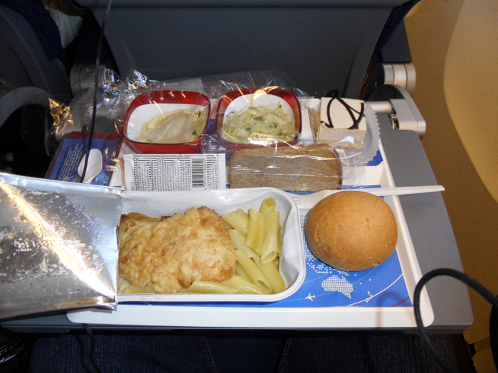 Питание на рейсе авиакомпании Трансаэро Москва-Петропавловск-Камчатский