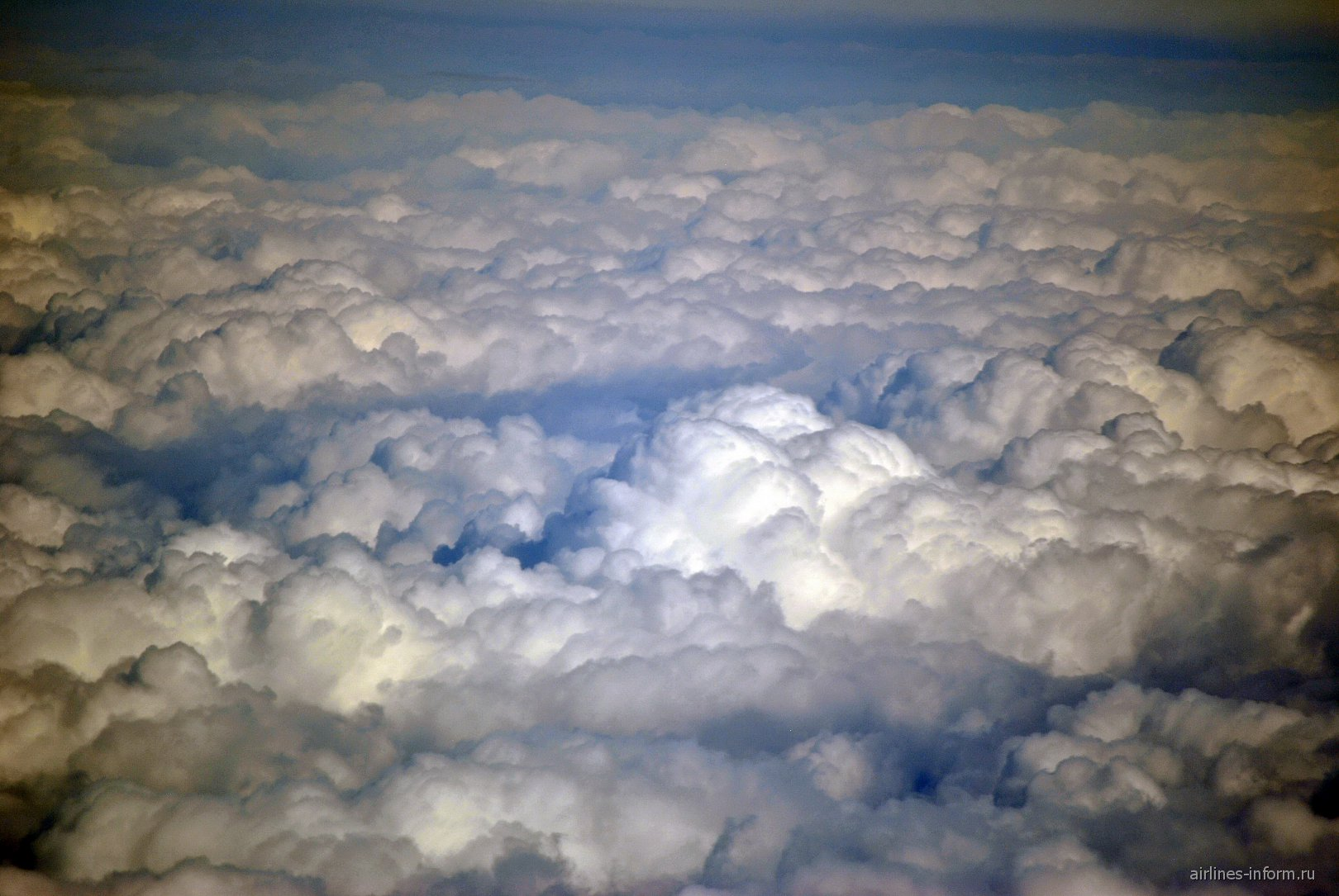 Облака во время рейса Владивосток-Москва
