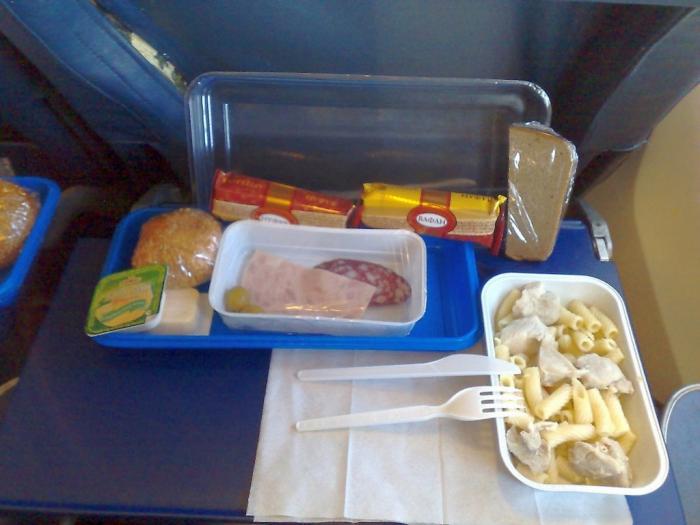 Питание на рейсе Норильск-Москва Нордавиа