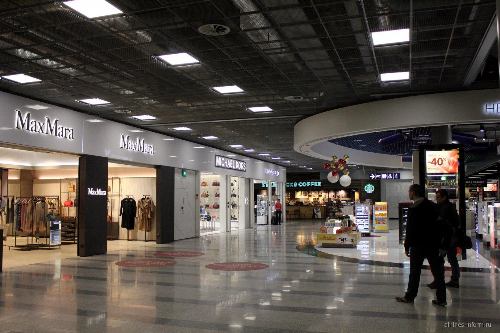 Магазины в чистой зоне терминала 2 аэропорта Хельсинки Вантаа