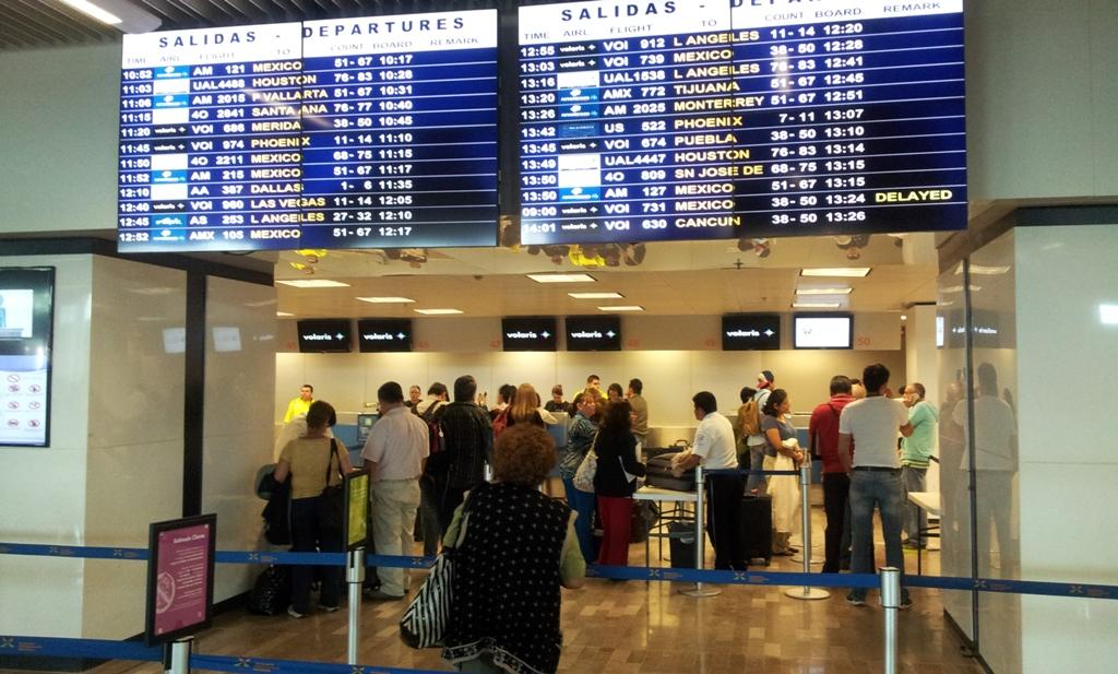 Стойки регистрации в аэропорту Гвадалахара