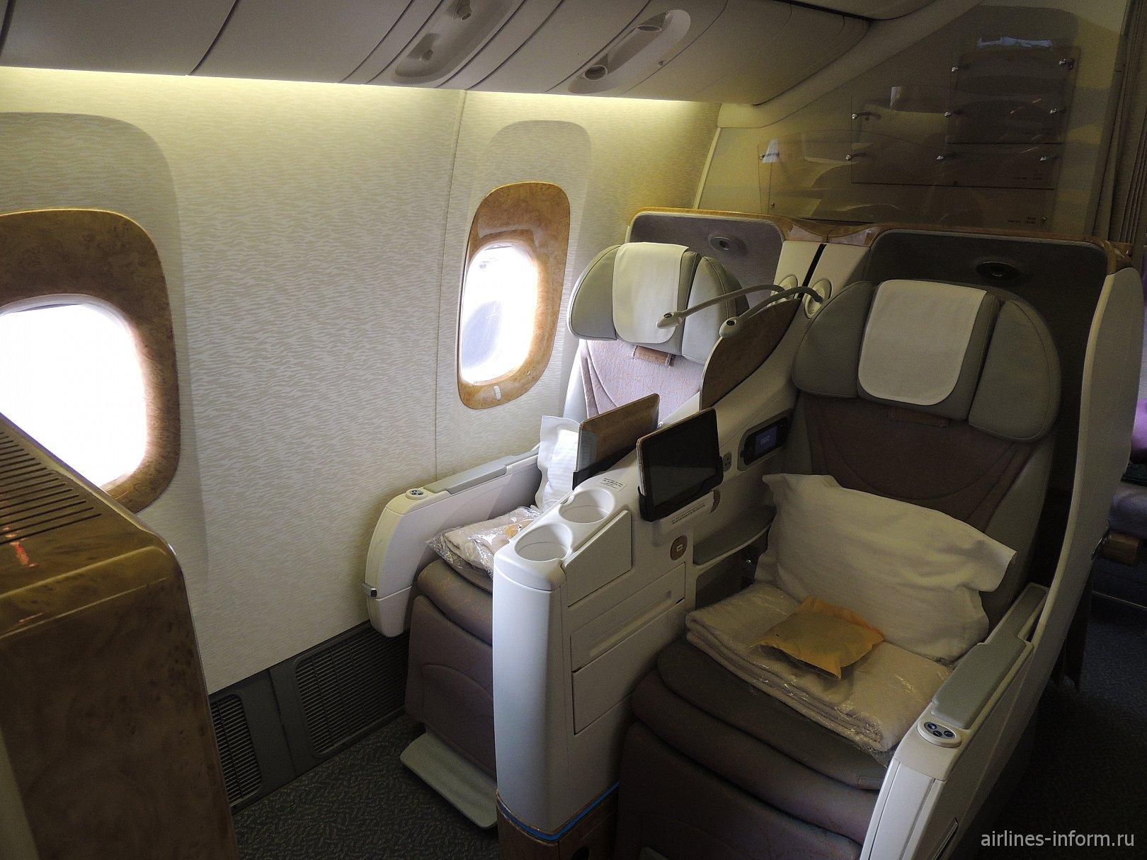 Бизнес-класс в самолете Боинг-777-300 Emirates