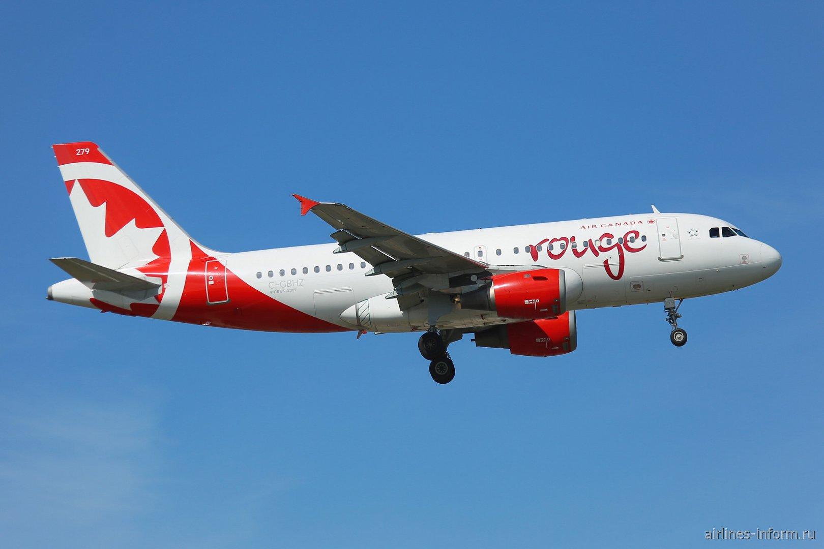 Airbus A319 C-GBHZ авиакомпании Air Canada Rouge