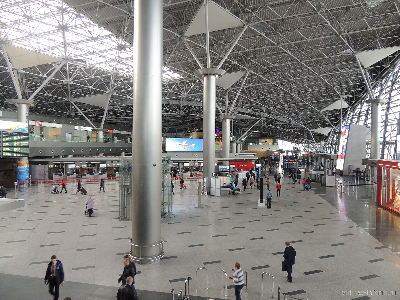 Общий зал терминала А аэропорта Внуково