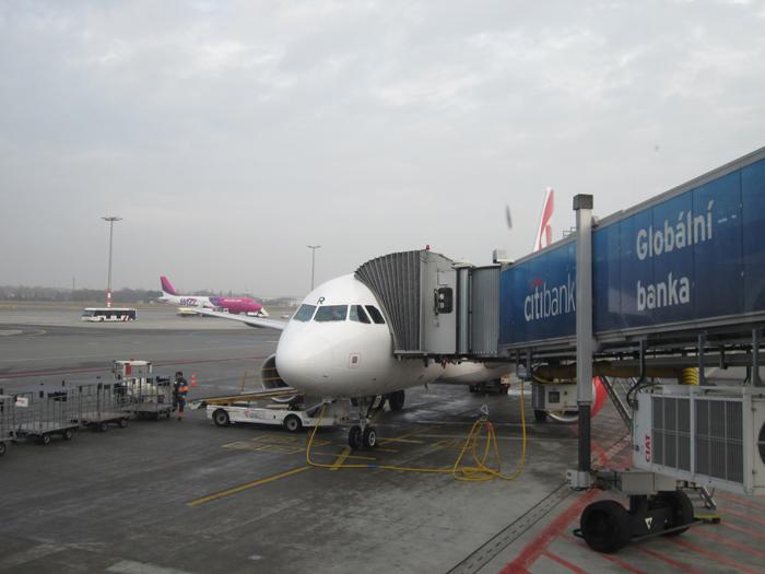 Вылет рейса Прага-Париж