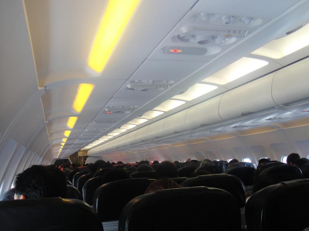 Cabin in AirAsia Airbus A320