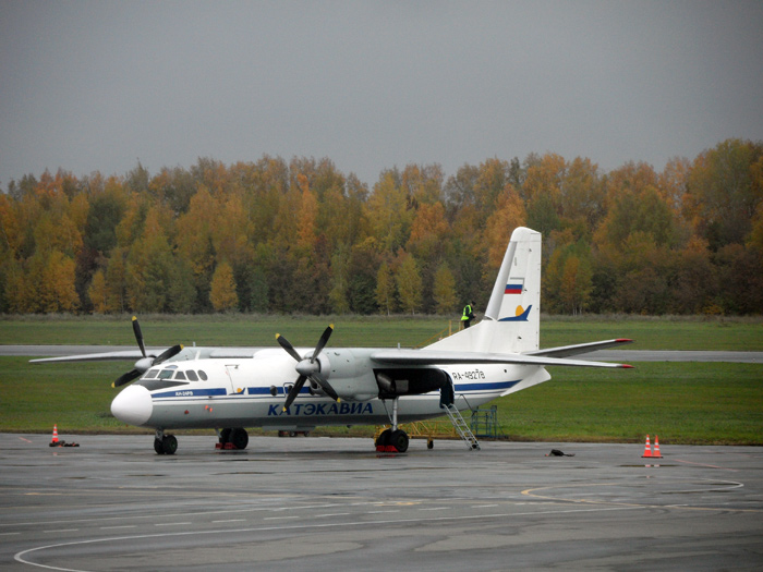 Ан-24 Катэкавиа в аэропорту Уфы
