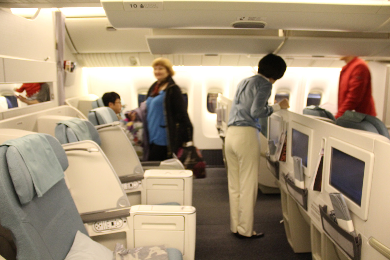 Бизнес класс самолета Боинг-777-200 авиакомпании Korean Air