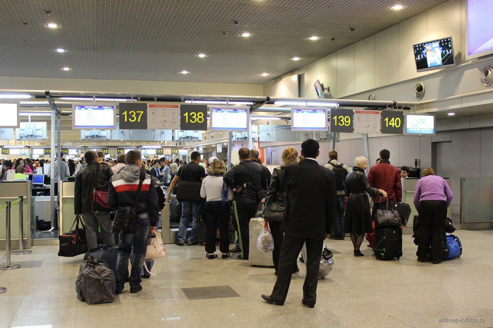 Стойки регистрации аэропорта Домодедово