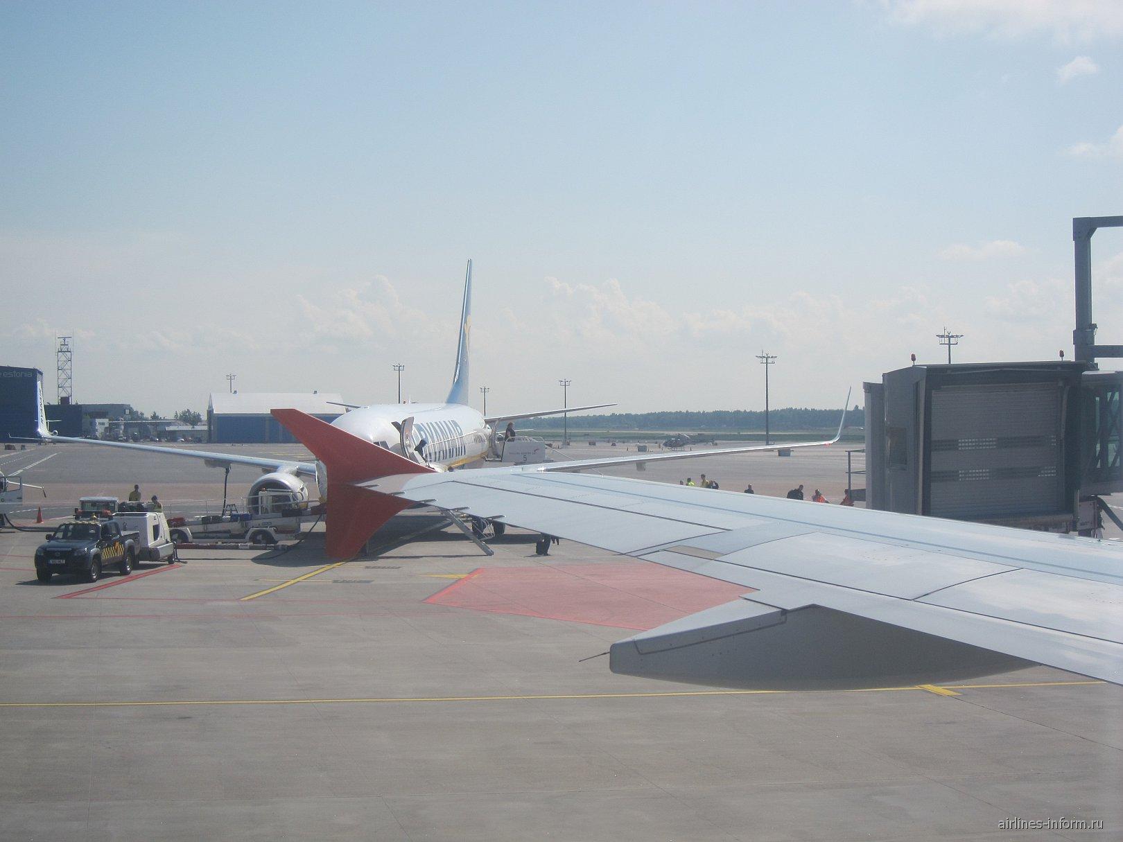Самолет Ryanair в аэропорту Таллинна