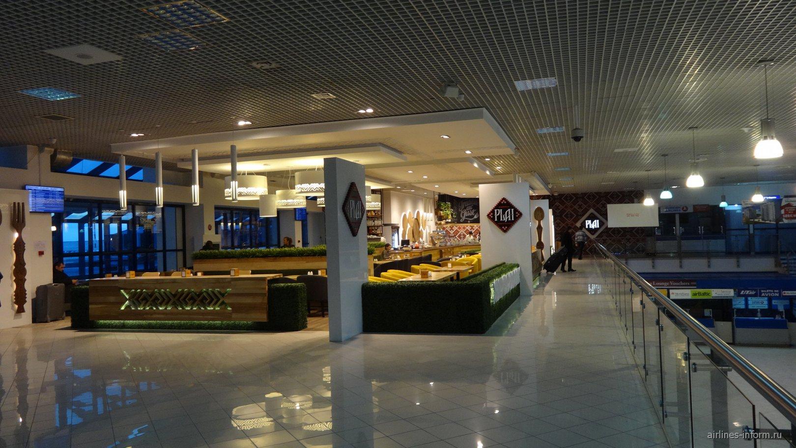 Кафе на втором этаже аэровокзала аэропорта Кишинев