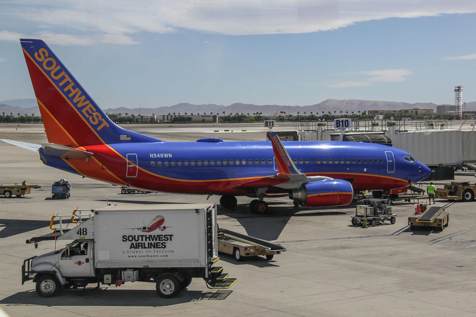 Boeing 737-700 N948WN авиакомпании Southwest в аэропорту Лас-Вегаса