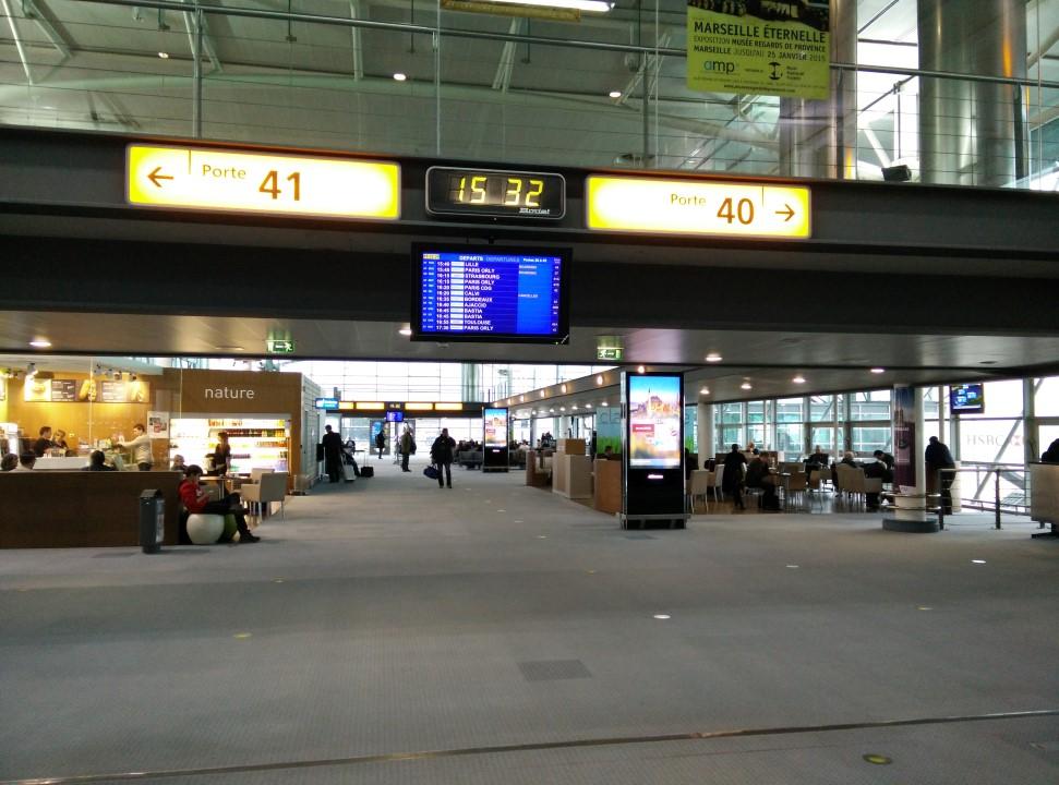 В аэропорту Марсель Прованс