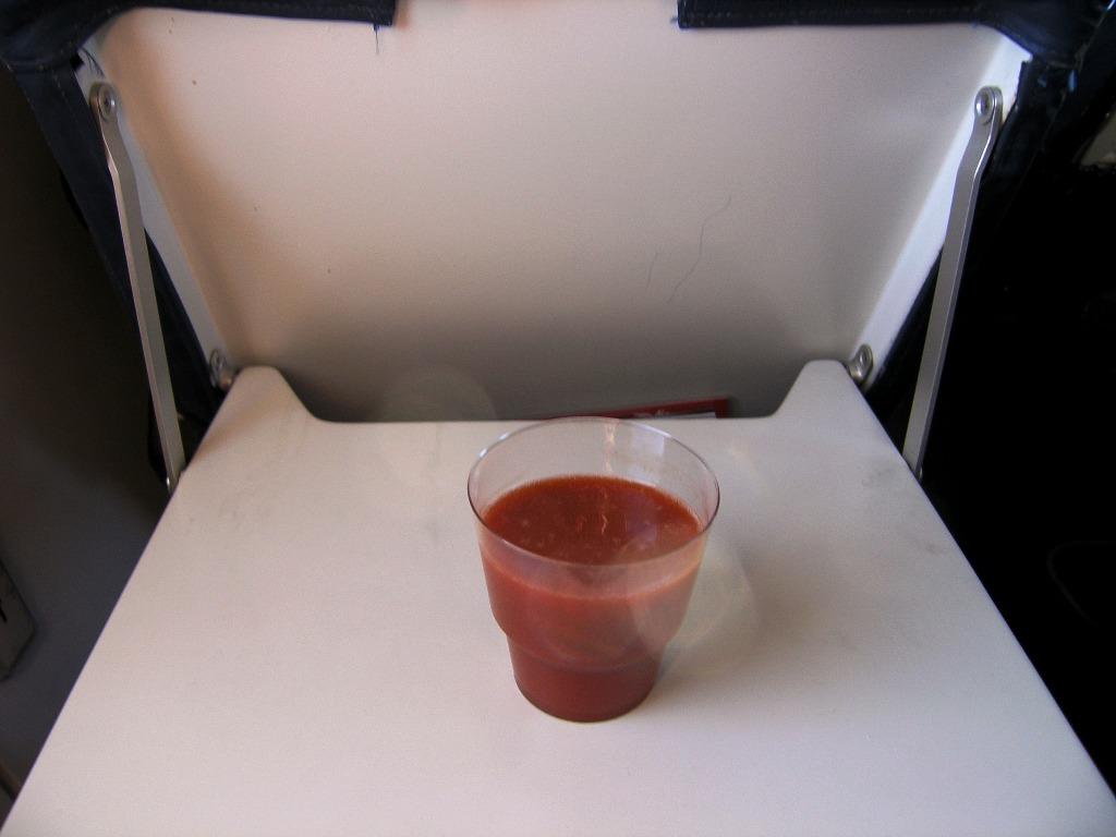 Прохладительные напитки на рейсе Екатеринбург-Пермь авиакомпании РусЛайн