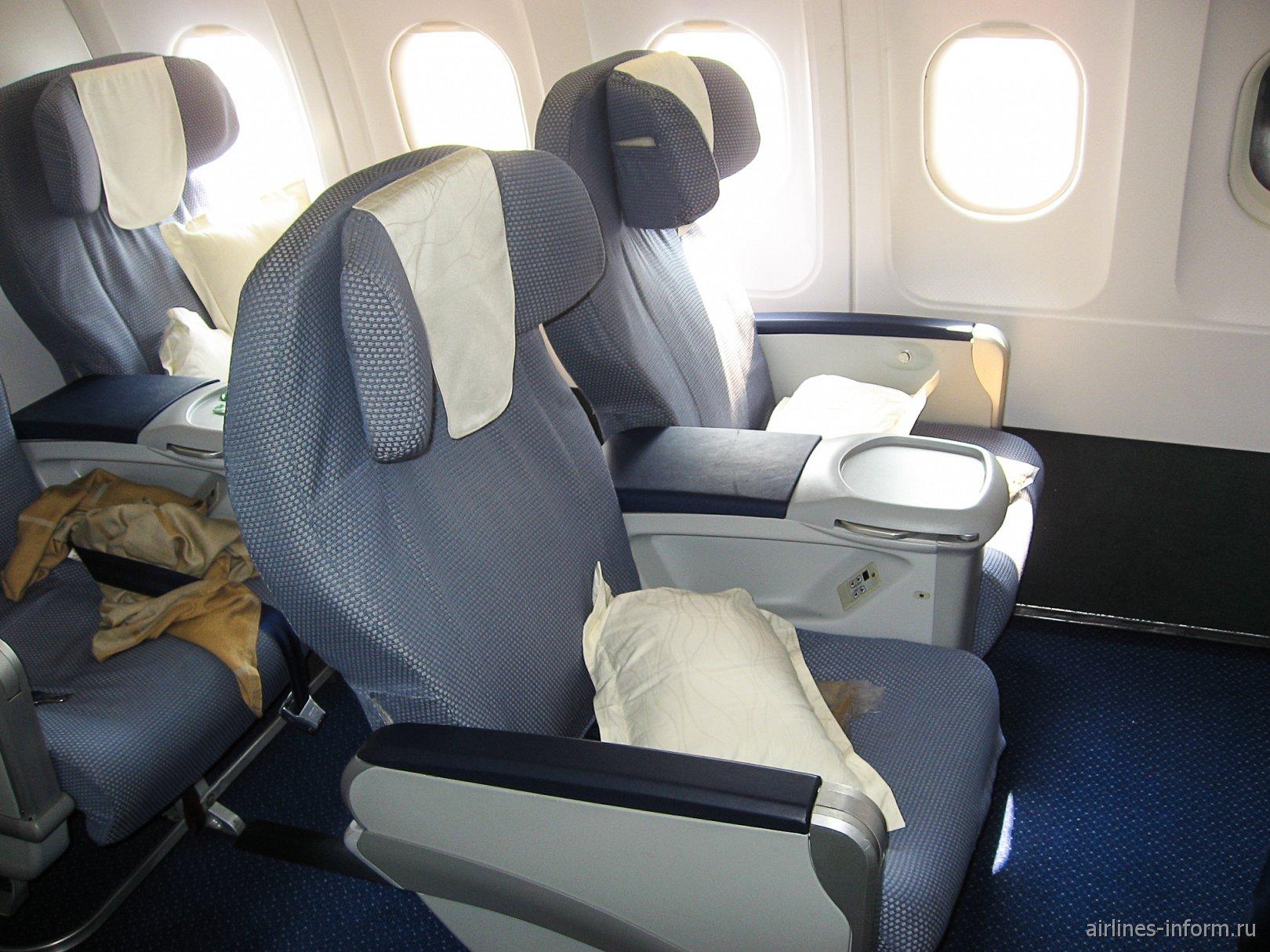 Бизнес-класс в Airbus A320 авиакомпании China Southern Airlines