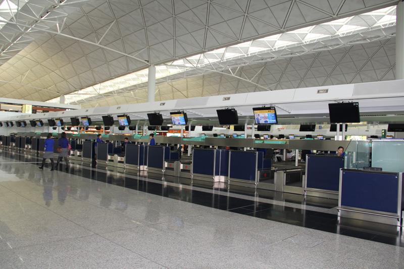 В аэропорту Гонконга