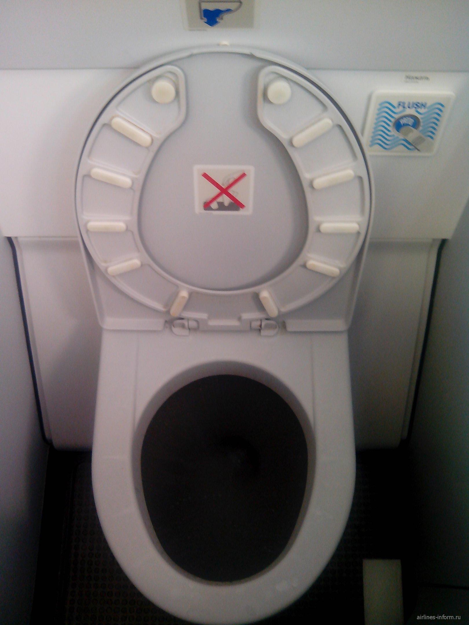 Туалет Airbus A321 авиакомпании ЮТэйр
