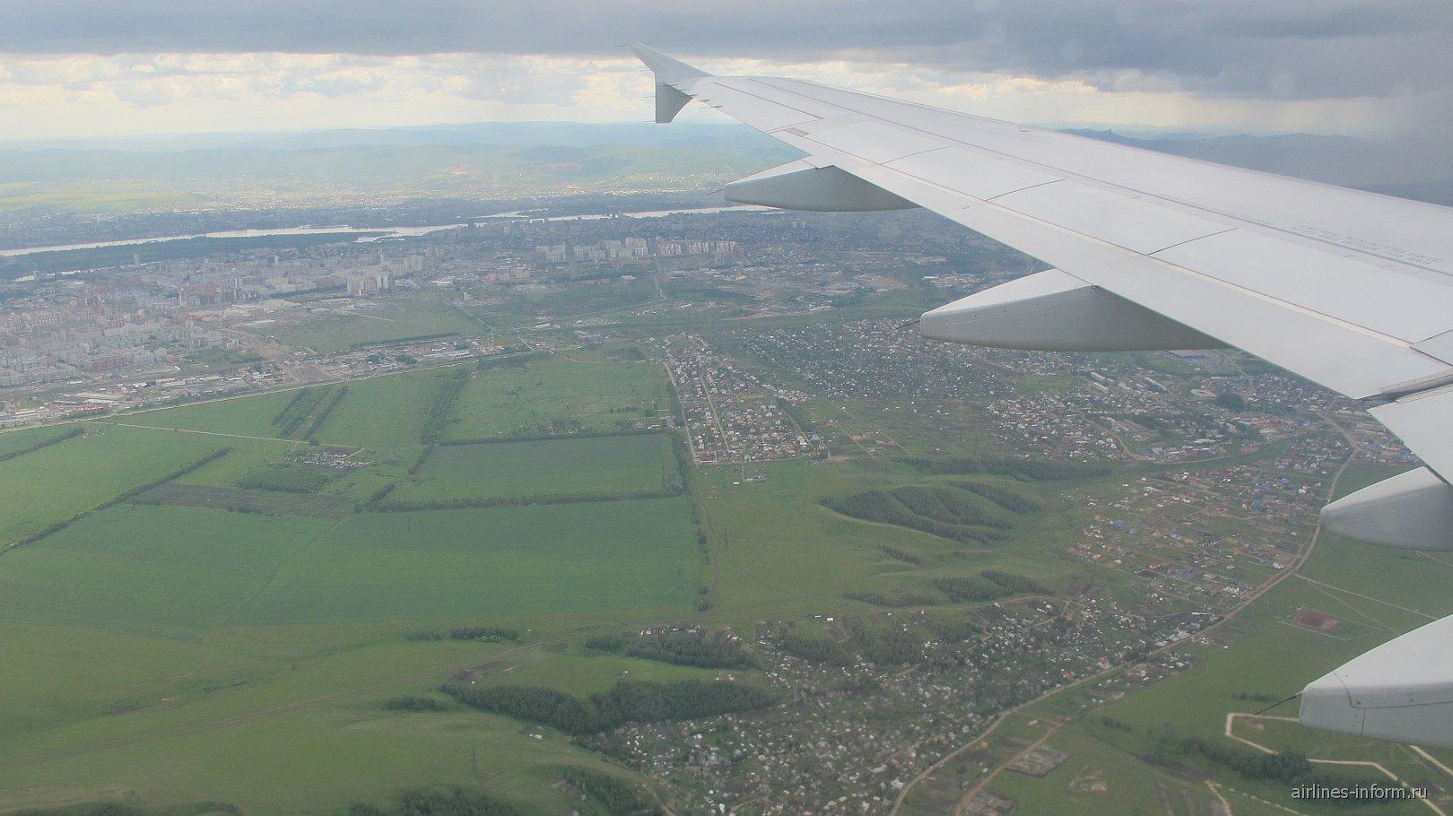 В полете над Красноярском