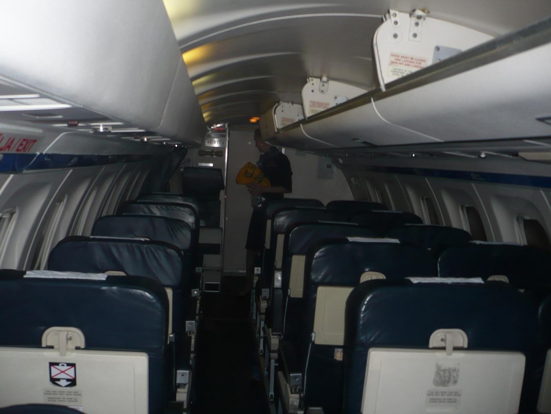 Салон самолета Saab 340 авиакомпании Estonian Air
