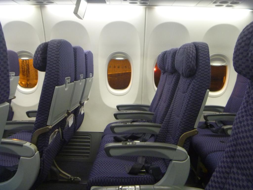 Пассажирские кресла в самолете Боинг-737-800 авиакомпании Copa Airlines