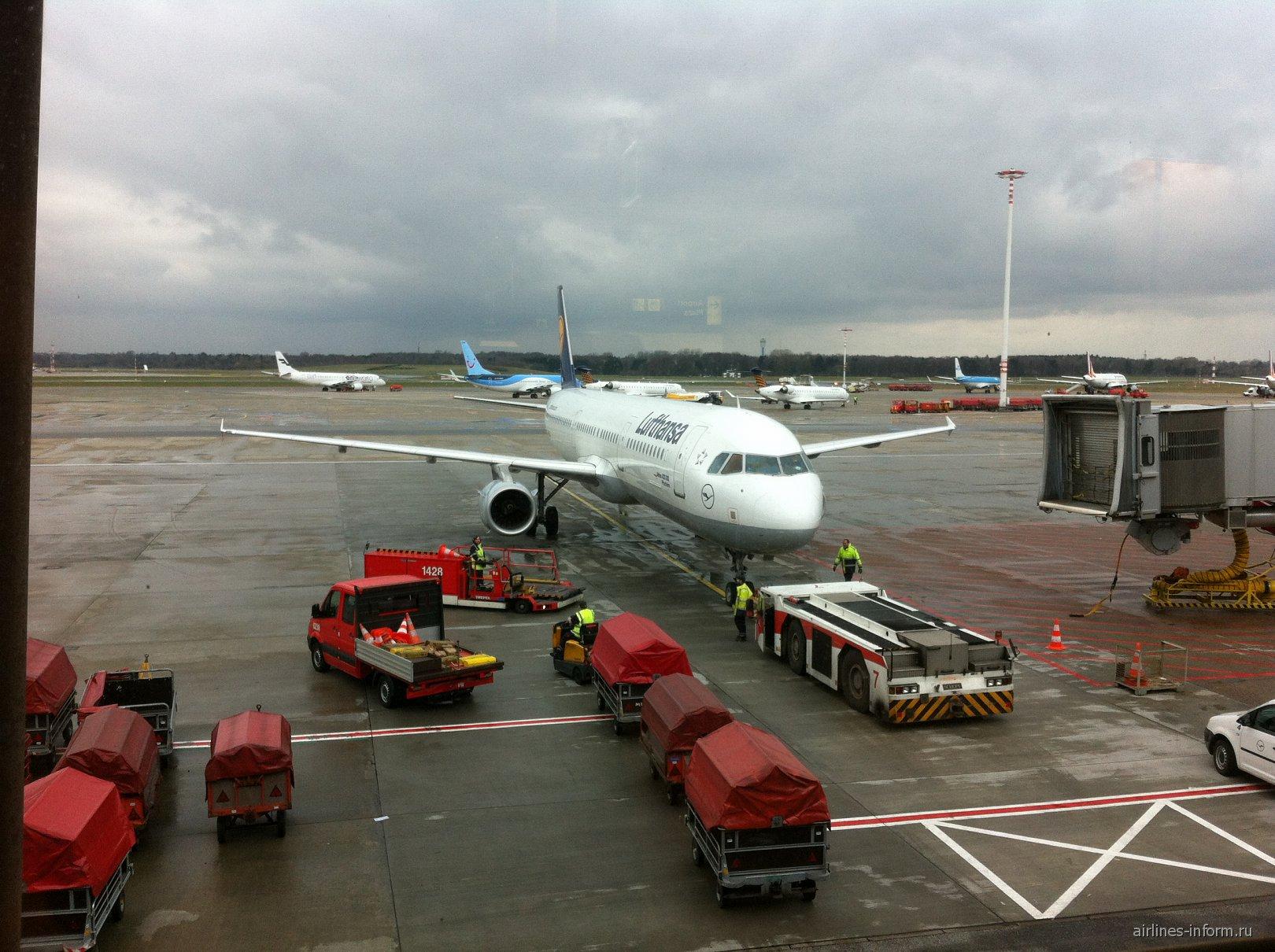 A321 Lufthansa в аэропорту Гамбург