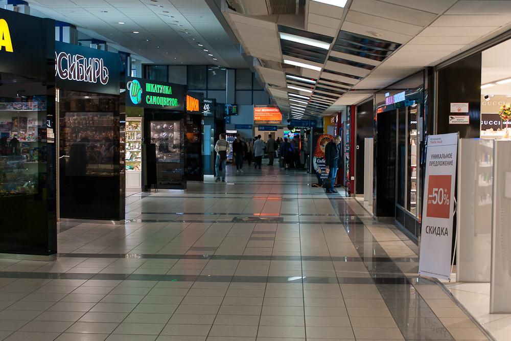 Магазины в стерильной зоны терминала А аэропорта Толмачево