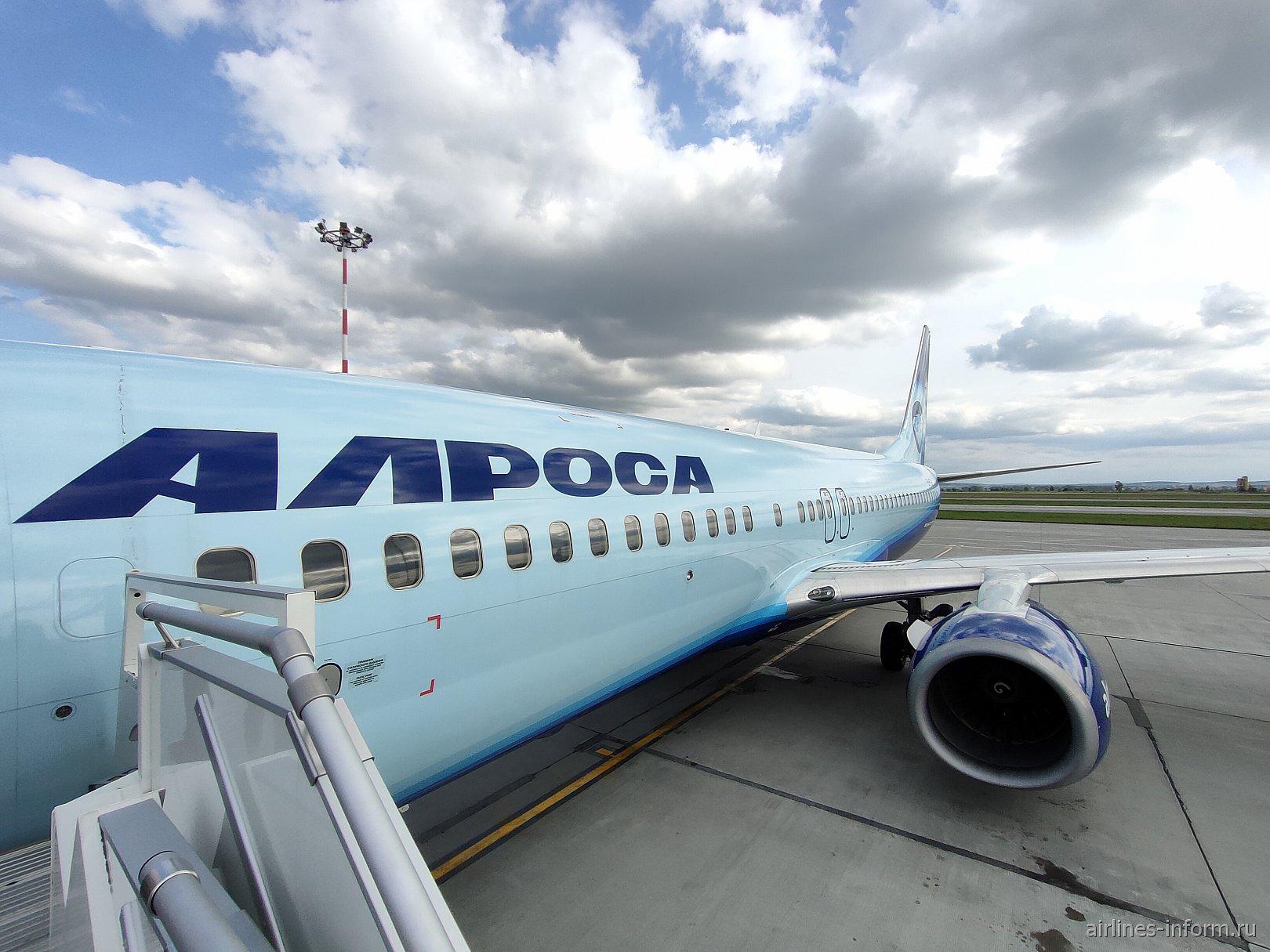 Екатеринбург - Домодедово, авиакомпания Алроса на Boeing 737-800