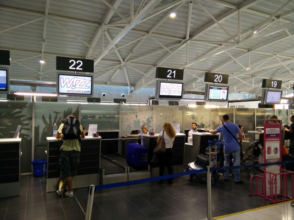 Стойки регистрации в аэропорту Ларнака