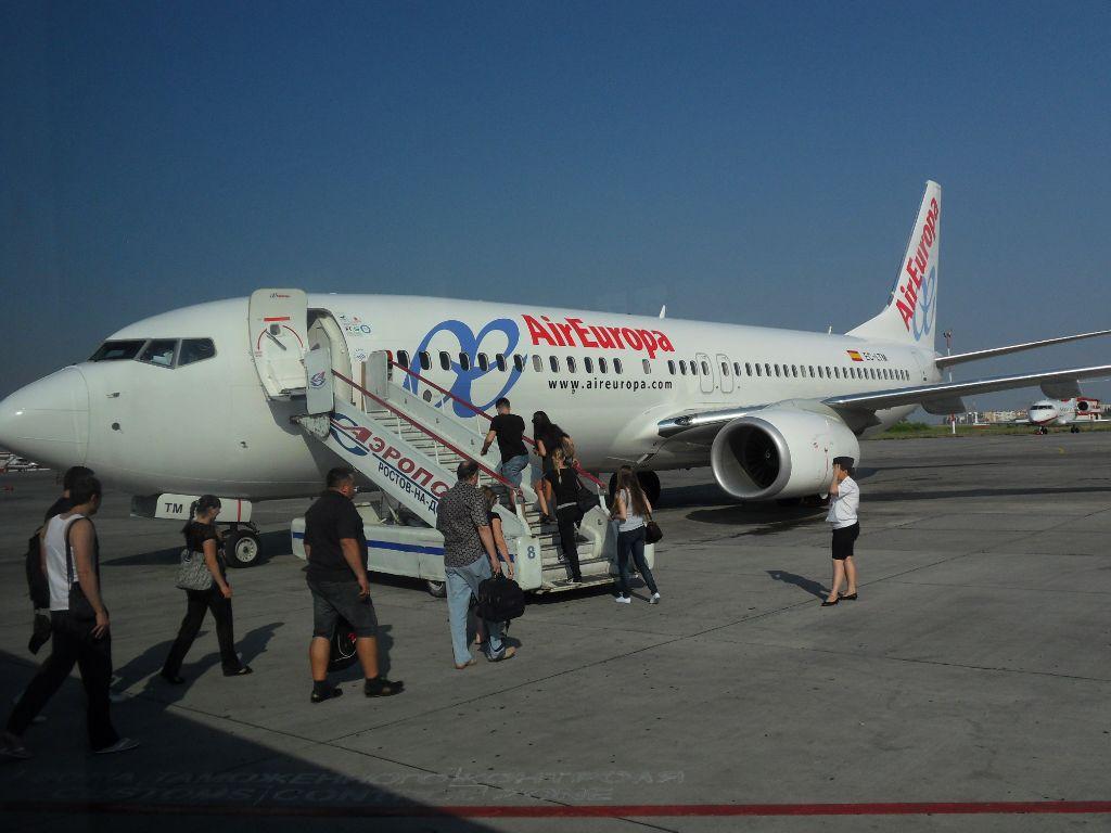 Посадка на рейс Ростов-Барселона авиакомпании Air Europa
