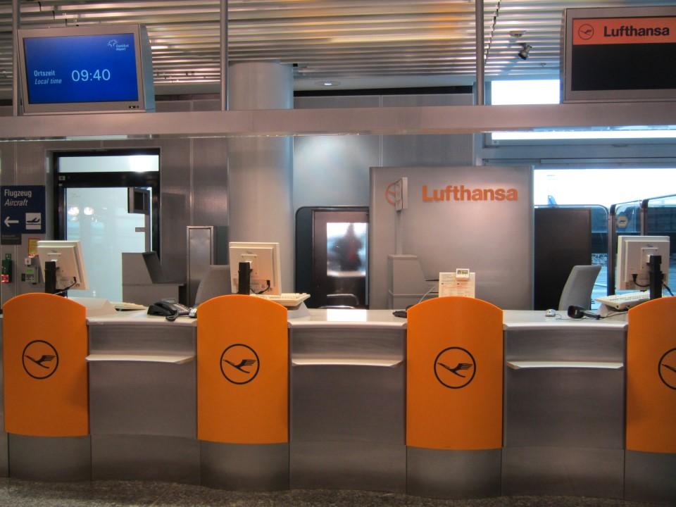 Представительство авиакомпании Люфтганза в аэропорту Франкфурта