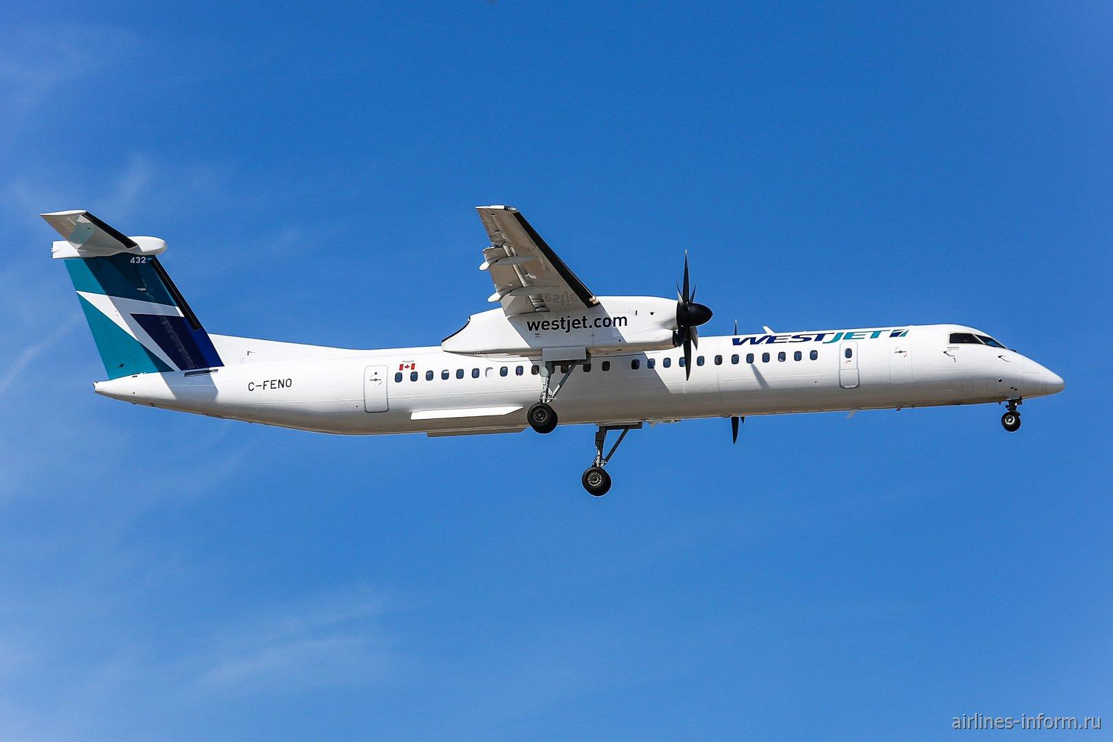 Bombardier Dash 8 Q400 C-FENO авиакомпании WestJet Encore