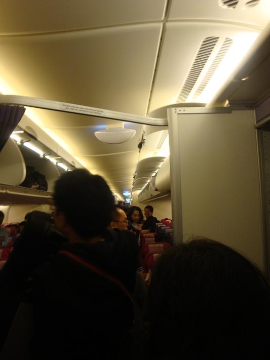 В салоне самолета Airbus A380 Тайских авиалиний
