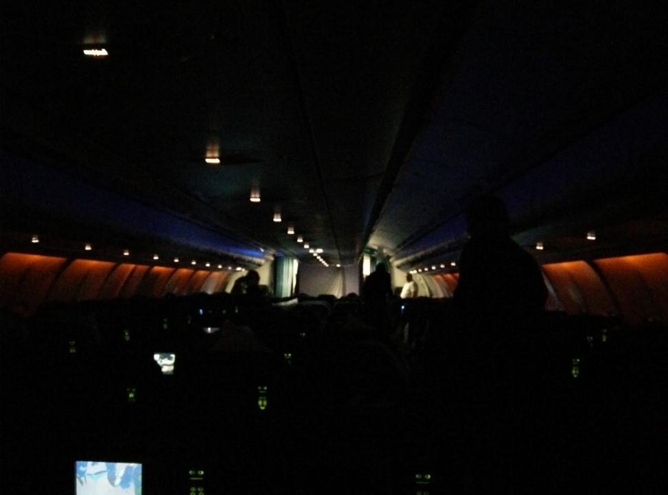 Пассажирский салон самолета Airbus A330-300 авиакомпании Air Caraibes