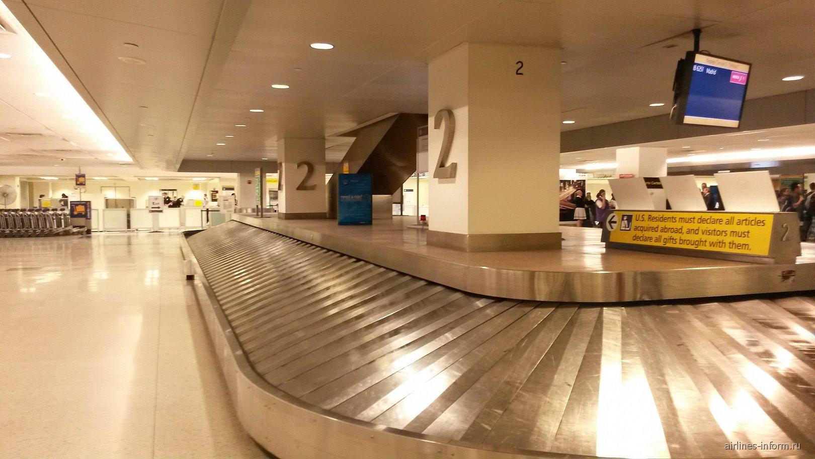 В аэропорту Нью-Йорка