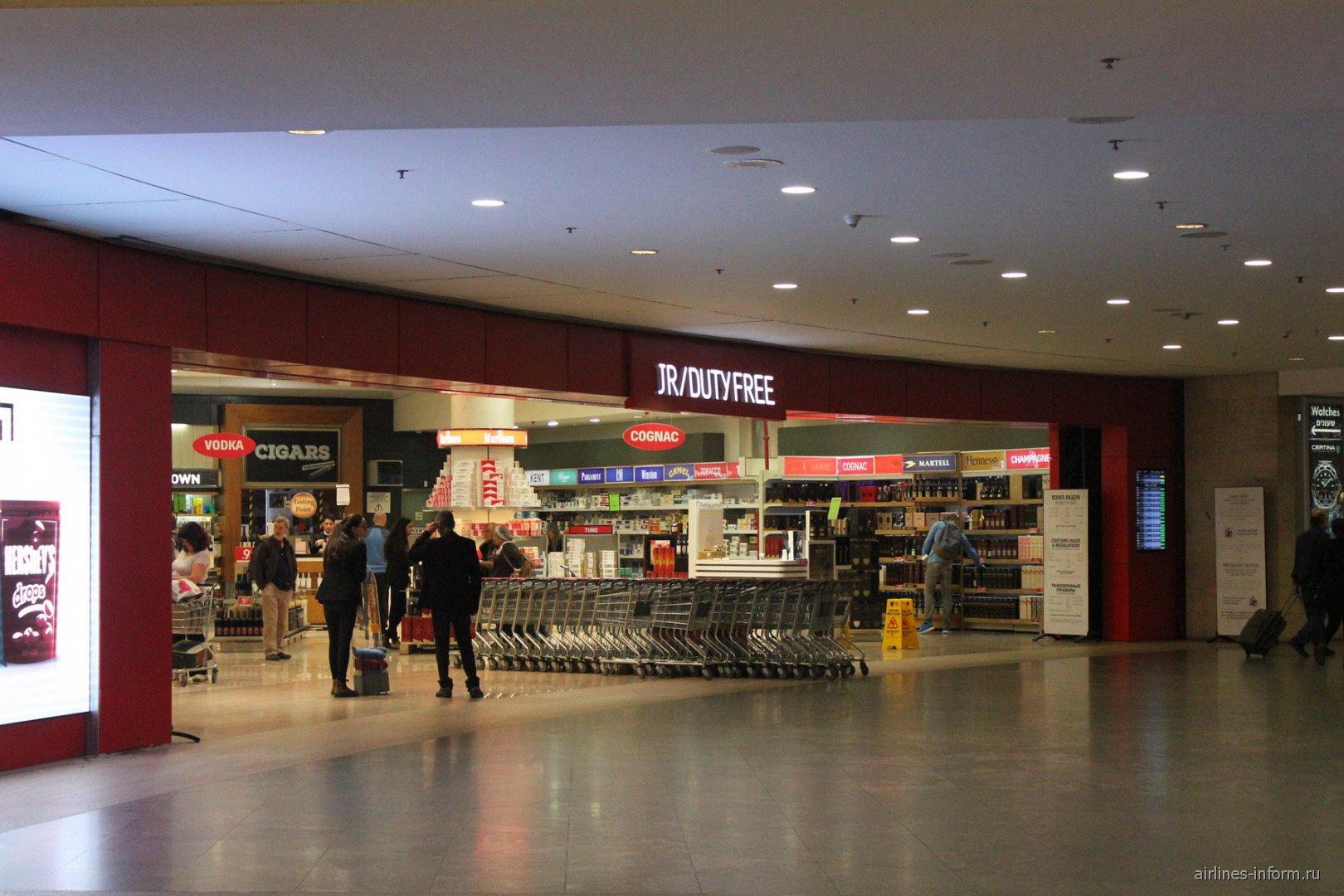 Магазин Duty-Free в аэропорту Тель-Авив Бен Гурион